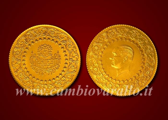 5f6b66bda3 Anno: 1943-80. Peso netto oro puro: 33,075 gr. Peso lordo: 36,082 gr.  Titolo: 916,66 ‰ ø 34,00 mm